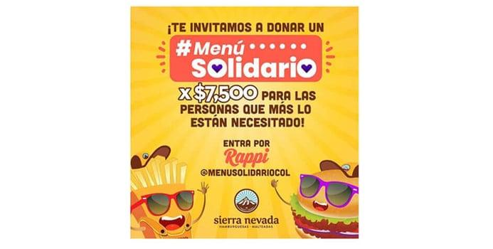 iniciativa_menu_solidario_rappi_sierra_nevada_hamburguesas